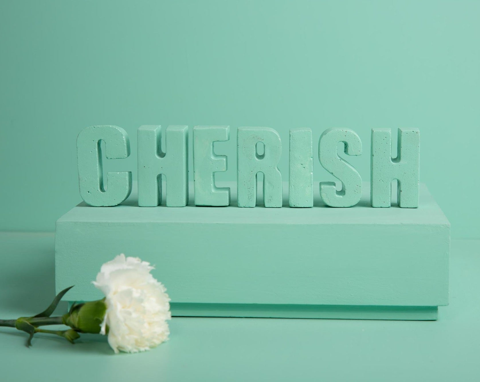 "Concrete Letters-""Cherish "" Asian Paints Colour of the year 2021 Collection-Eliteearth"