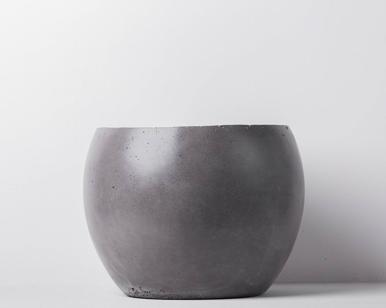 Concrete Meteor Planter - Charcoal-Eliteearth