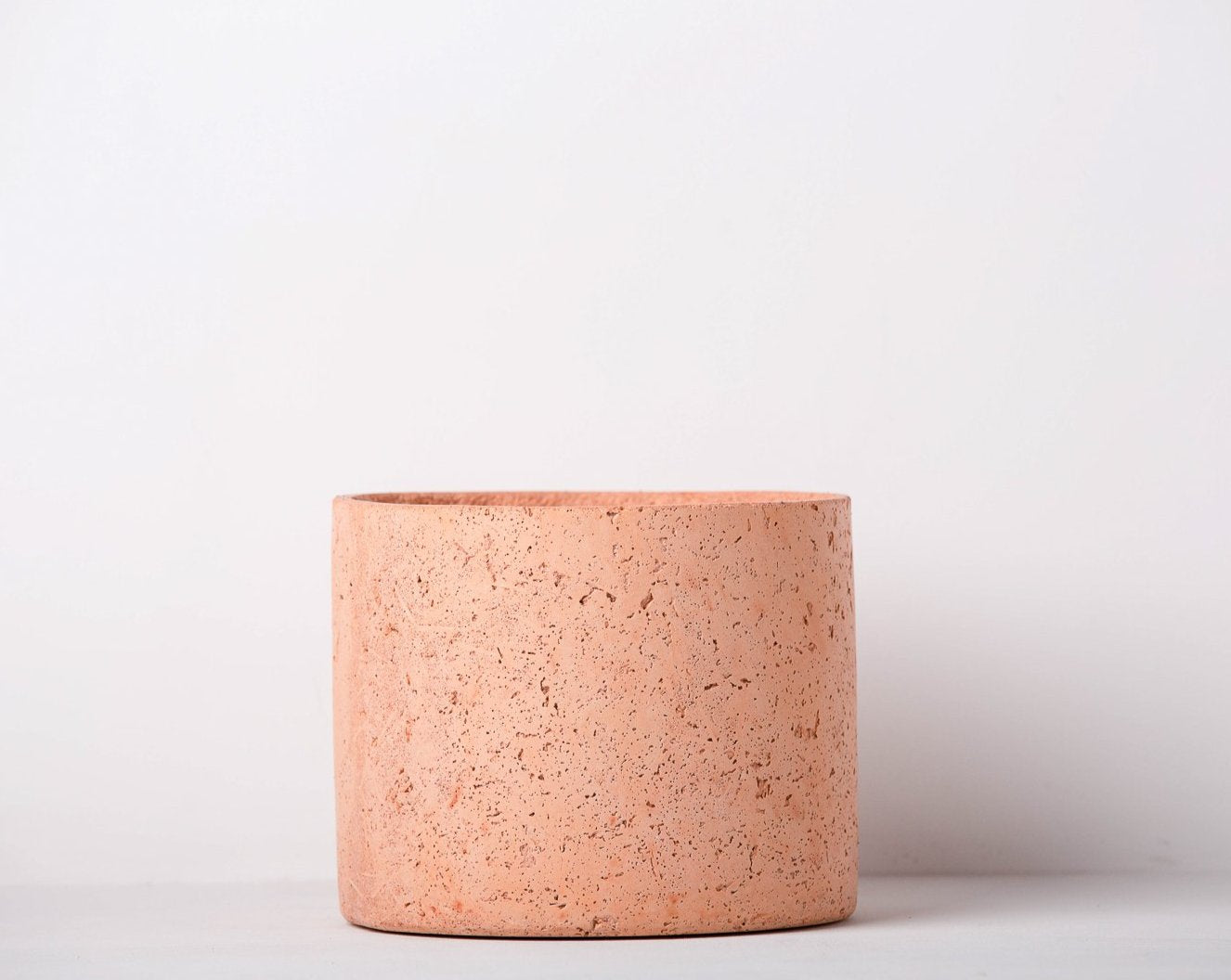 Concrete Mid-Century Planter Blush Pink -  Handpressed Collection-Eliteearth