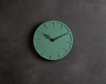 "Concrete Moon Clock-""Cherish "" Asian Paints Colour of the year 2021 Collection-Eliteearth"