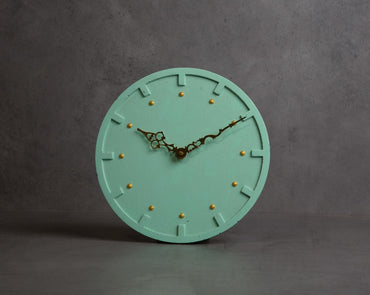 Concrete Moon Clock-