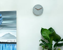Concrete Moon Wall Clock-Eliteearth