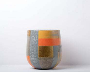 Concrete Ovate Planter - Suryaasta Collection