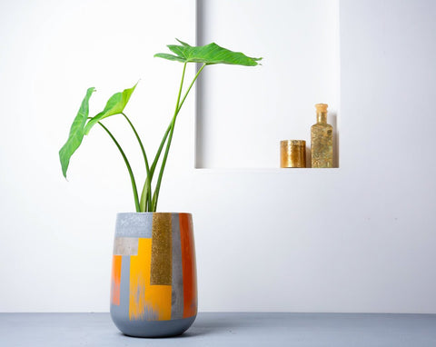 Concrete Parabola Planter- Suryaasta Collection-Eliteearth