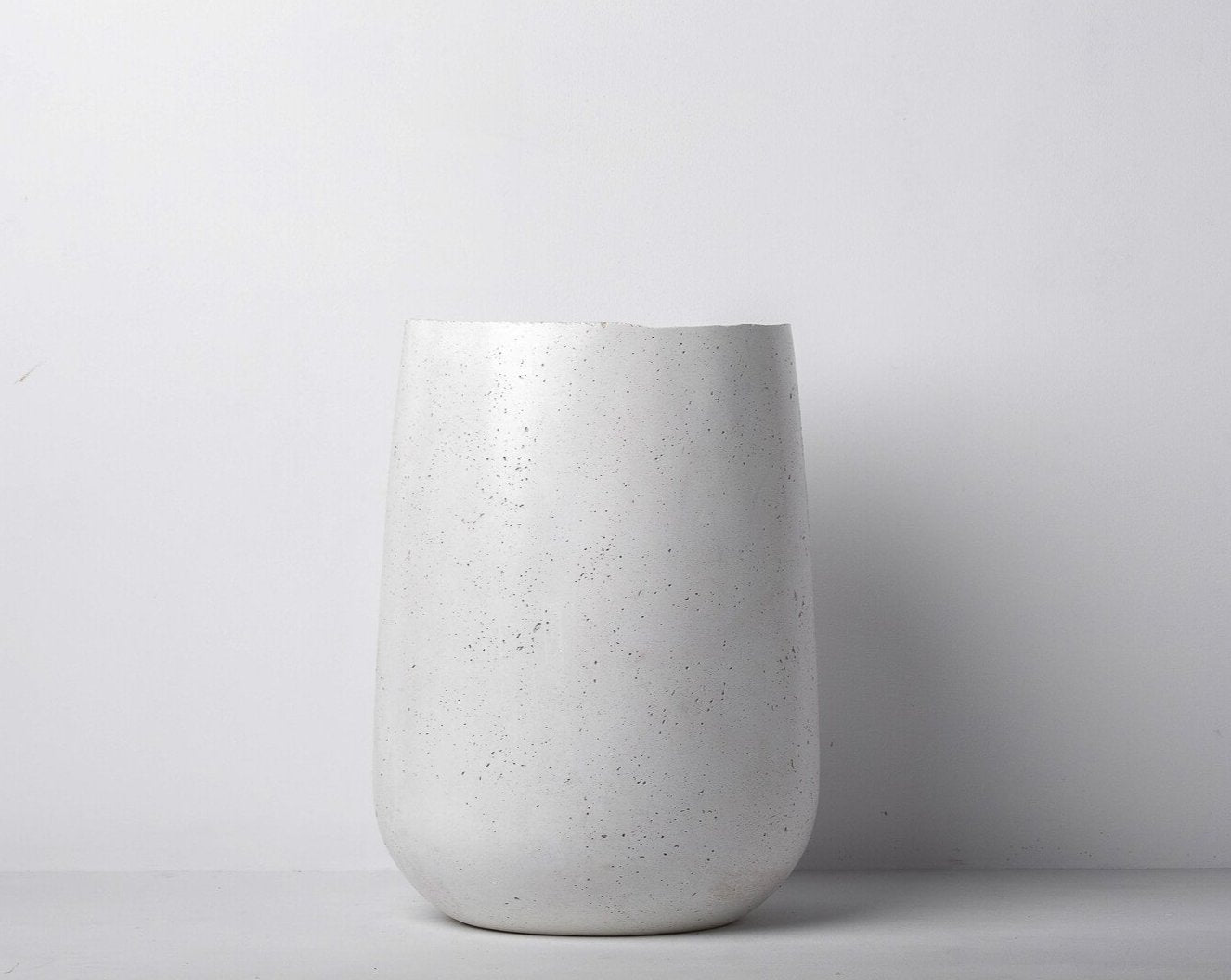 Concrete Parabola Planter White -  Handpressed Collection-Eliteearth