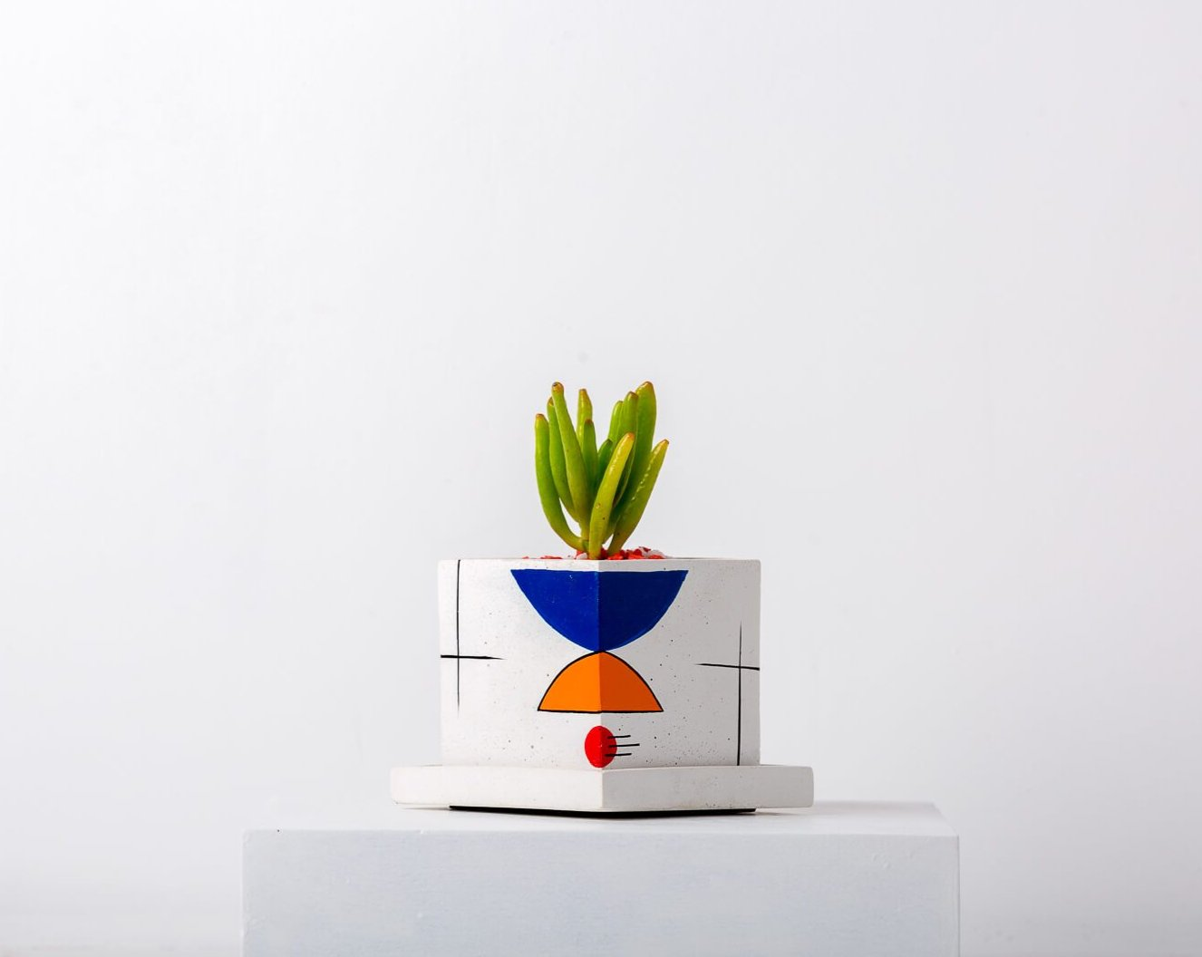 Concrete Square Faced Planter-Avant-Garde Collection-Eliteearth