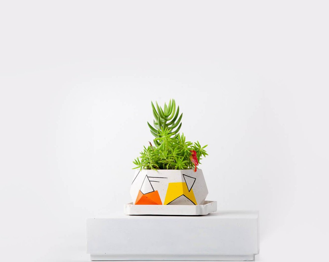 Concrete T Mark Planter-Avant-Garde Collection-Eliteearth