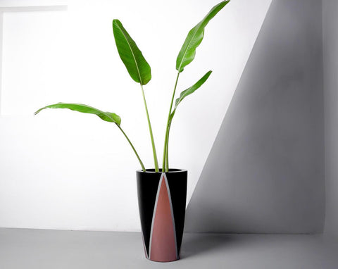 Concrete Umbra Planter Black/Rosegold -  Handpainted Collection-Eliteearth