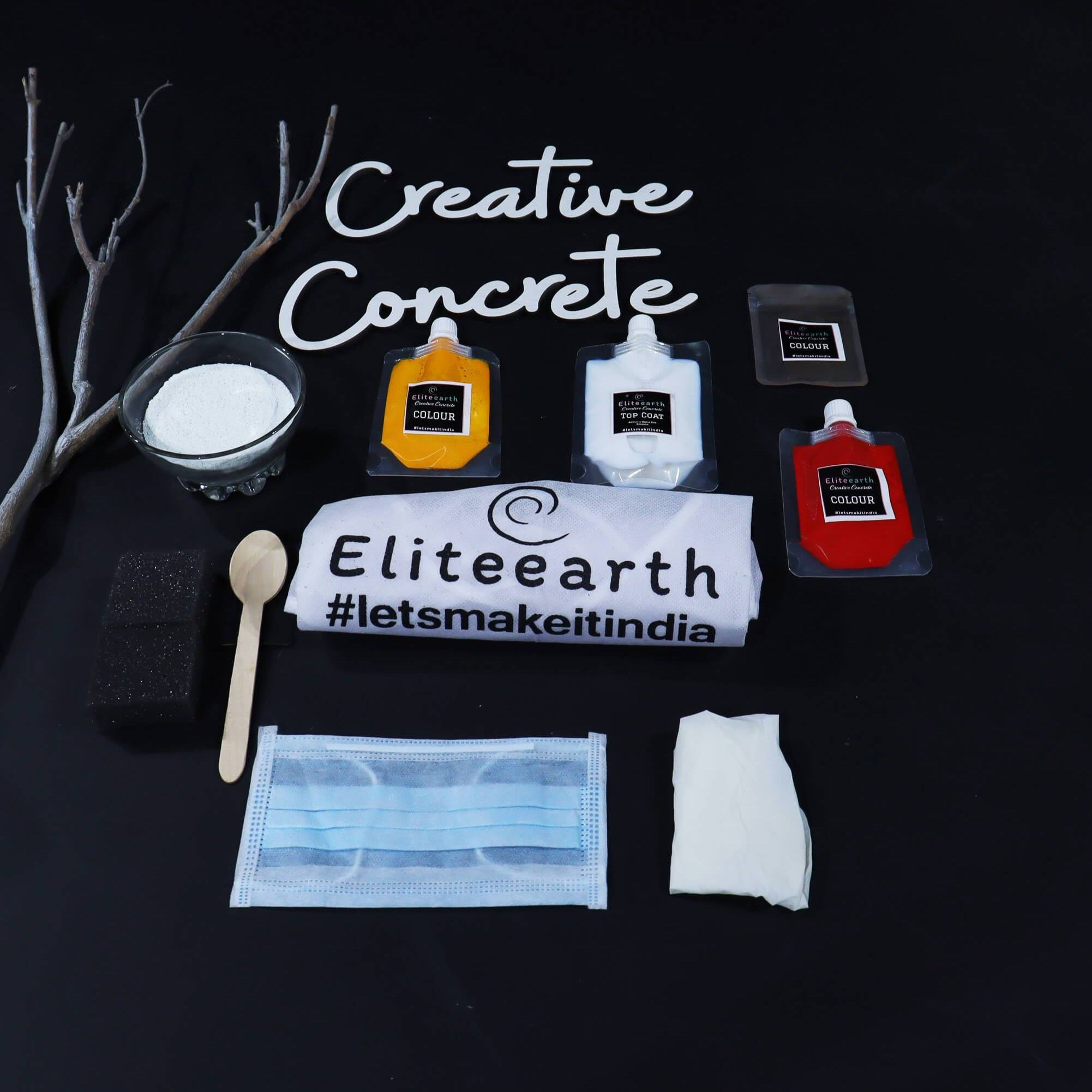 Eliteearth's DIY Creative Concrete Kit with Silicon Mold-Eliteearth