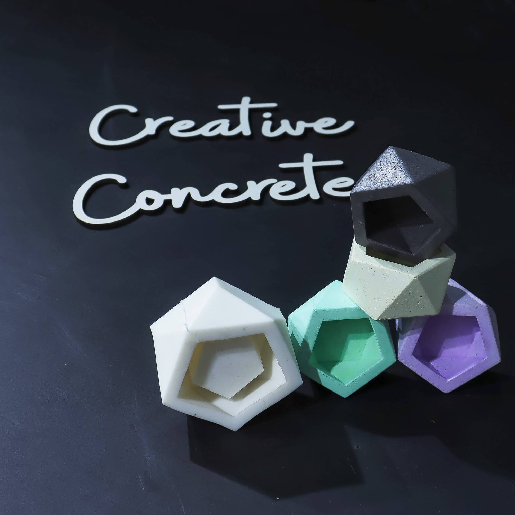 Creative Concrete's Mould for Planter & Candle vessel - HL-005-Eliteearth