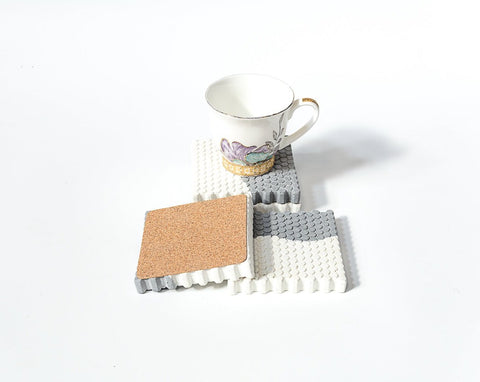 Concrete Honeycomb Coasters - Dual Tone Collection - Eliteearth