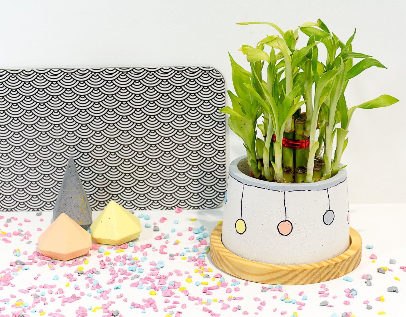 Concrete Cavern Planter - Confetti Collection - Eliteearth