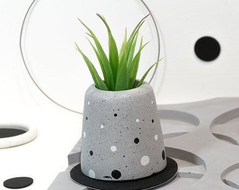 Concrete Ellip  Planter - Eclipse Collection - Eliteearth