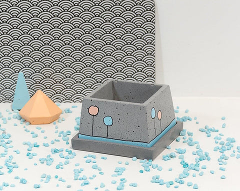Concrete Stylish Planter - Confetti Collection - Eliteearth