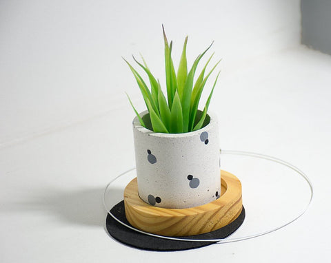 Concrete Goblet of Greens Planter - Eclipse Collection - Eliteearth