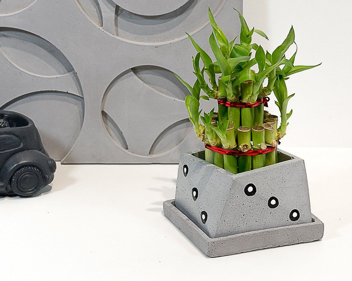 Concrete Slanty Planter - Eclipse Collection - Eliteearth