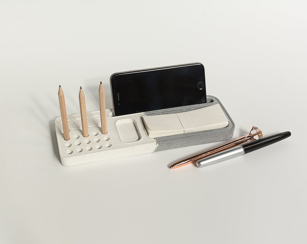 Concrete Sleek Organiser - Dual Tone Collection - Eliteearth