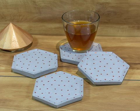 Concrete Style Coasters Grey - Polka Collection - Eliteearth