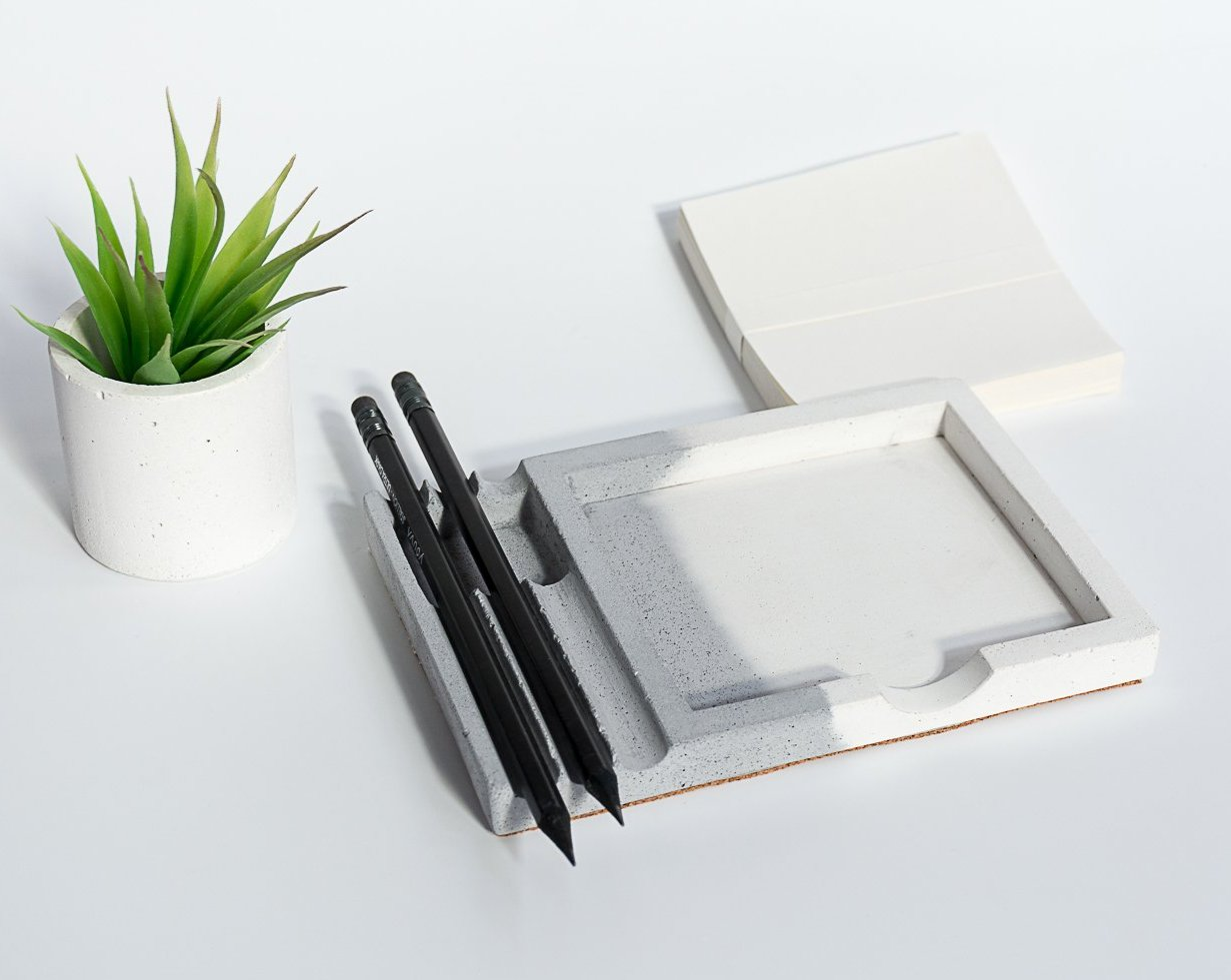 Concrete Writing Pad - Dual Tone Collection - Eliteearth
