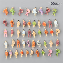 Load image into Gallery viewer, 100Pcs 1:150 Scale DIY Painted People Figures Model For Sand Table Train Layout