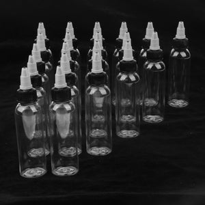 20 Piece Empty Plastic Squeeze Bottle withTwist Top Cap Tip Applicator