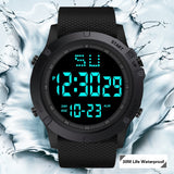 Men's Student Electronic Watch Multi-function LED Big Black Screen Table Sports Electronic watch