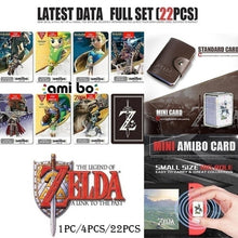 Load image into Gallery viewer, 22 Pcs/4Pcs /1Pc All Switch Amiibo Tag Cards BOTW OOT SSB Link Chatacters for NS
