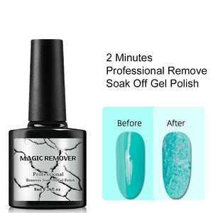 Gel Nail Polish Burst Magic Remover Gel Liquid Nail Art Primer Acrylic Clean Soak Off Remover