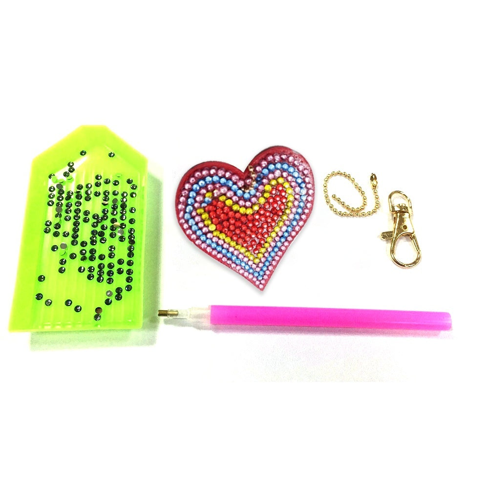 5pcs/set DIY Full Drill Special-shaped Diamond Painting Key Chain Keyring Gift
