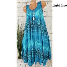Load image into Gallery viewer, Summer NEW Women's Digital Printed Dress Sleeveless Plus Size Dress Casual XS-5XL