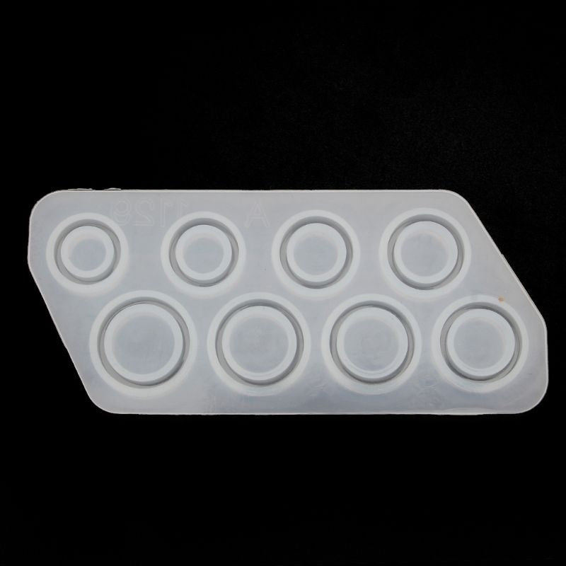 Ring/ Plate Jewelry Making Mold Silicone Mould Epoxy Resin Mold for Jewelry DIY Resin Decorative Craft US Size 5-12