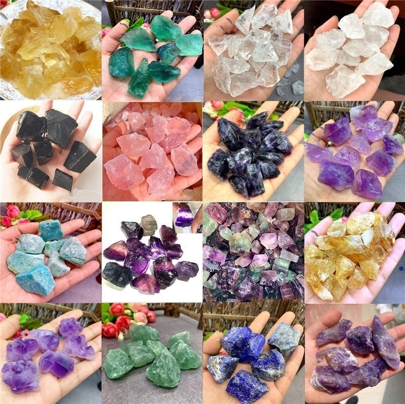 Natural Rare Obsidian Crystal Point Colored Fluorite Raw Gemstone Mineral Specimen Irregular Crystal Reiki Healing Advanced Collection Diy
