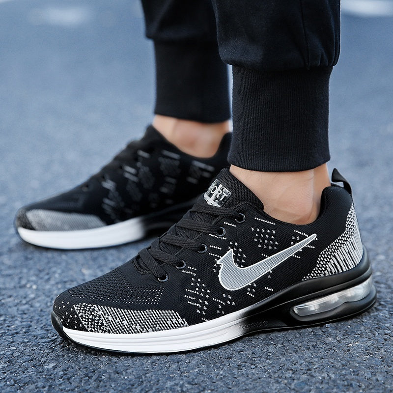 New Trendy Men Women Casual sports shoes Breathable Air cushion Fly mesh Unisex Running Sneakers