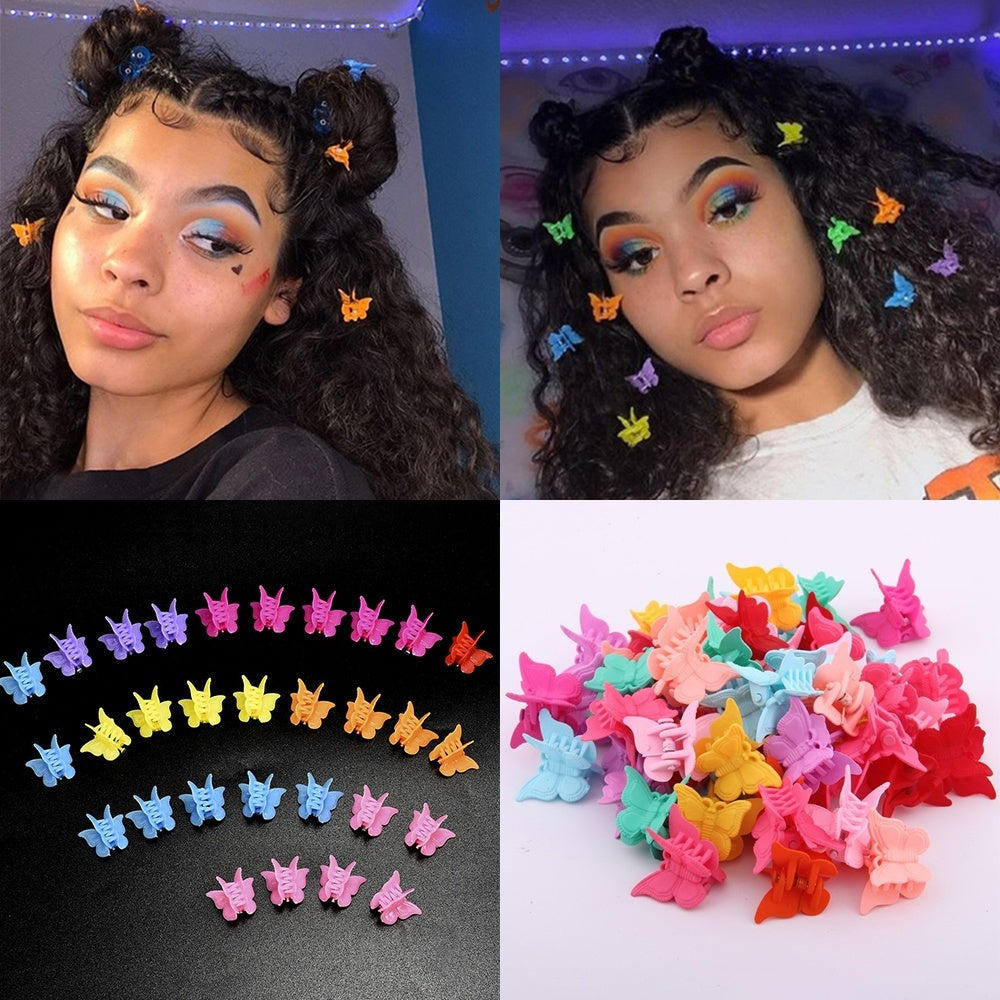 20/50/100 Pcs Cute Hair Accessories Hair Clamps Mixed Color Hair Claws For Kids Baby Mini Hairpins Butterfly Hair Clips