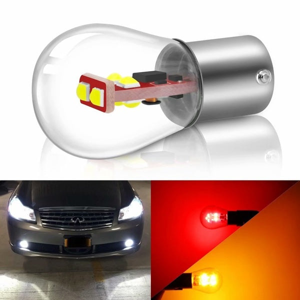 1Pc 1157 BA15D BAY15D 1156 BA15S P21W P21/5W Led Bulb 800LM Car Turn Signal Lamp Reverse Brake Lights Red White Yellow 12V