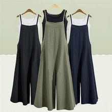 Load image into Gallery viewer, Women's Fashion Summer and Autumn Casual Jumpsuit Long Suspender Overalls Bib Pants Long Skirt For Young Girl S-5XL