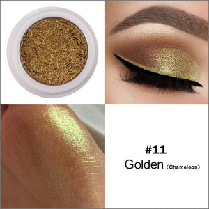HANDAIYAN Glitter Eyeshadow Nude Pigments Cream Women Party Smoky Eyes Powder Shimmer Metal Eye Shadow