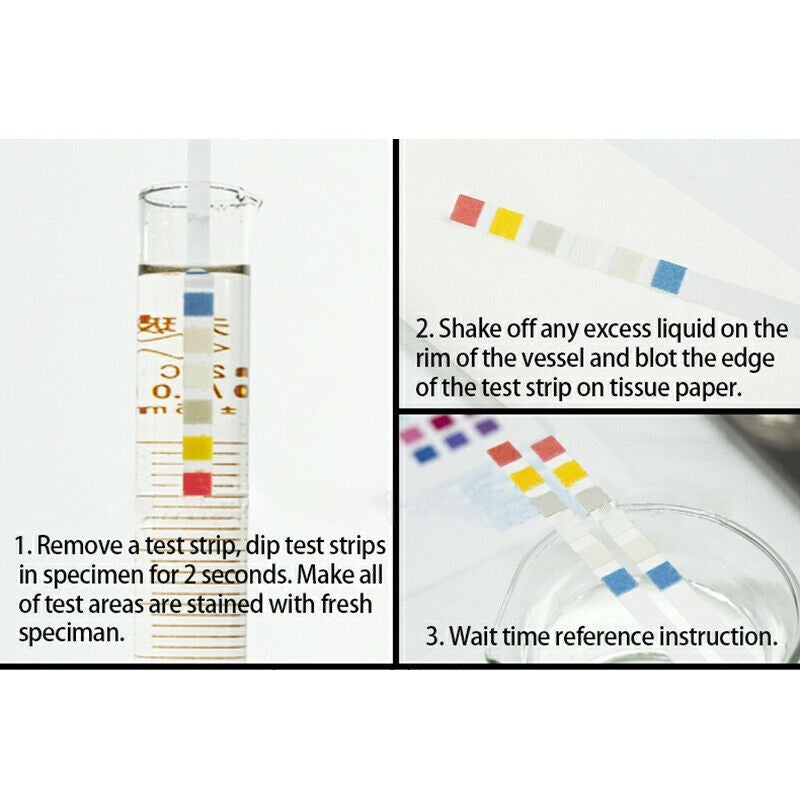 100pcs 6 in 1 Test Strips PH KH GH Nitrate Nitrite Aquarium Fish Tank Test Paper