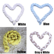 Load image into Gallery viewer, 1/1.5/2/2.5/3/3.5M 3-Strands Soft Knot Pillow Decorative Baby Bedding Braided Crib Safety Anti-collision Bumper Cushion (14 Colors)