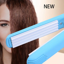 Load image into Gallery viewer, Styling Tool Corrugated Electronic  Travel Straightener  Corrugation Hair Crimper Iron Ceramic Mini Portable