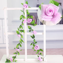 Load image into Gallery viewer, 2.35M Artificial Rose Flower Ivy Leaf Wedding Garland Plants Fake Foliage Vine