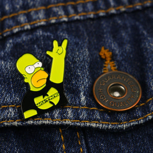 Wu Tang Clan Enamel Brooch Pin Simpson Rock  Lapel Pin Wutang Rap Music Badge HIP-HOP Jewelry