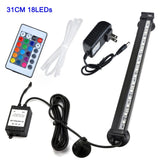 LED Lamp LED Air Bubble light LED light 16CM - 51CM 5050 RGB Waterproof LED fish tank light LED Aquarium light LED Aquarium Fish Tank light Light Submersible Light Remote Control LED Aquarium light