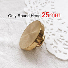 Load image into Gallery viewer, 1pcs New 25mm Round Classic Sealing Wax Seal Stamp Brass Copper Head