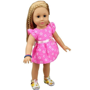 Cute Summer Style Dress Fits 18 Inch Doll Journey Girl and Our Generation Doll Same Applies 16 Inch Doll