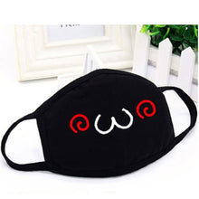Load image into Gallery viewer, Women Men Cotton Face Masks Pattern Solid Black Mask Fashion Cute Half Face Mouth Muffle