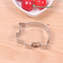 Load image into Gallery viewer, Stainless Steel Cute Pig Cookie Cutter Piggy Cartoon Animal Biscuit Pastry Baking Mold