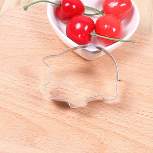 Stainless Steel Cute Pig Cookie Cutter Piggy Cartoon Animal Biscuit Pastry Baking Mold