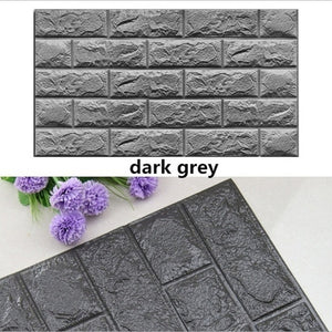 2019 Home Decor PE Foam 3D Wallpaper DIY Wall Stickers Wall Decor Embossed Brick Stone Living Room