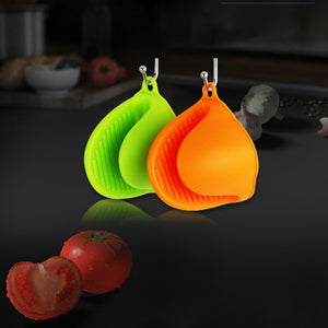 Food Grade Silicon Gloves for Microwave Funny Shape Silicone Pan Clip Heat Resistant Anti-scalding Oven Mitt for Cooking
